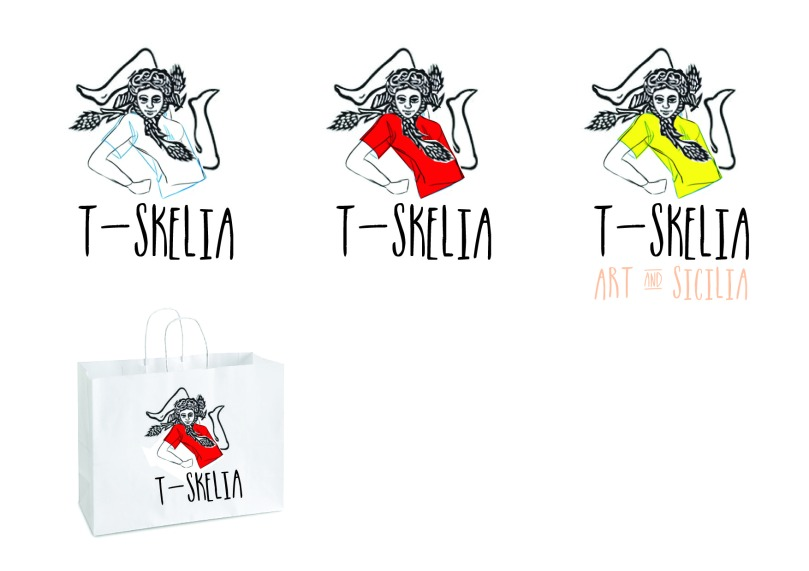Recherche graphique pour le logo de la marque T-SKELIA